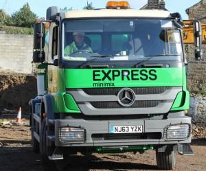 Front View - Express Minimix Mixer Truck