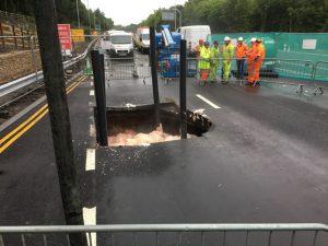 Concrete Pumped into Sink Hole